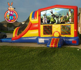 Shrek Module 5 in 1 Waterslide Bouncehouse Combo